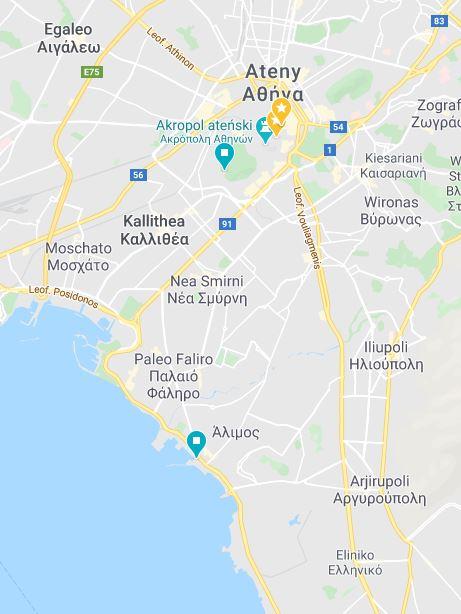 17 Ateny parking zatoka Grecja kamperem Elcamper gdzie parkować nocleg na dziko vanlife greece campervan boxtruck