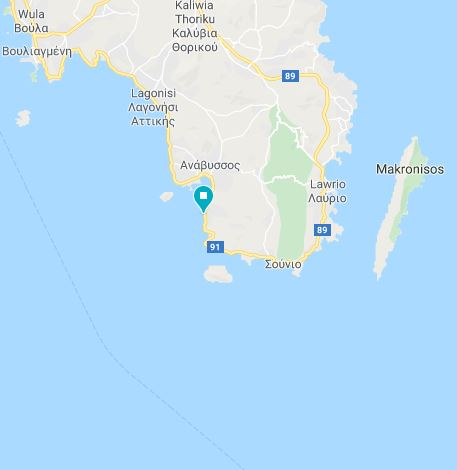 18 Półwysep Sunion Grecja kamperem Elcamper gdzie parkować nocleg na dziko vanlife greece campervan boxtruck